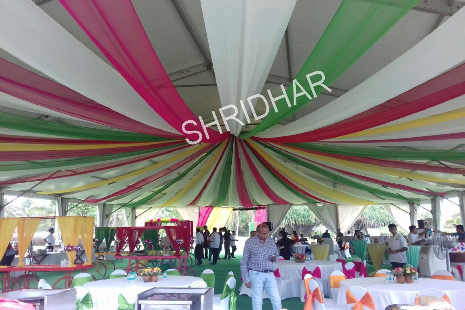 tents canopies shamianas tables chairs carpets for rent for weddings in bangalore shridhar tent house