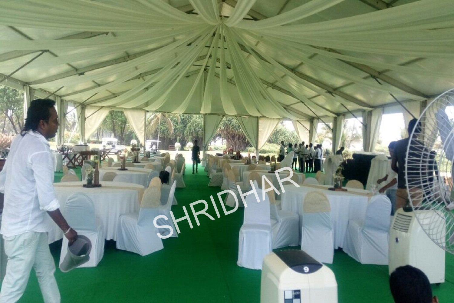 tents tables chairs carpets fans air coolers acs for rent for weddings in bangalore shridhar tent house